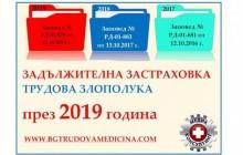 Заповед РД 01-879 от 22 октомври 2018 г. за определяне коефициент на трудов травматизъм за прилагане през 2019 г.